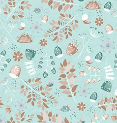 Floral seamless pattern - vector image