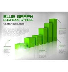 graph green text vector image