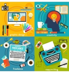 Graphic Deign Copywriting Creativity and vector image