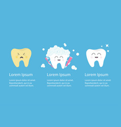 healthy smiling white tooth icon crying bad ill vector image