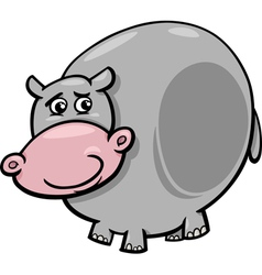 Hippopotamus animal cartoon vector