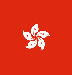 Hong kong flag isolate banner print vector