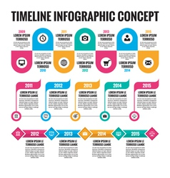 Infographic concept - Timeline vector
