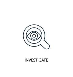 Investigate concept line icon simple element vector