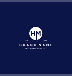 Letter hm logo design vector