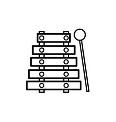 line marimba music instrument to melody harmony vector image