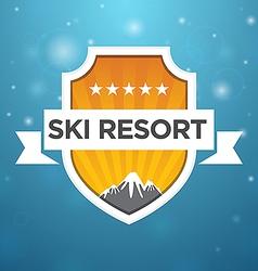 logotype ski resort five star vector image