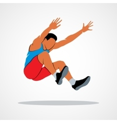 Long jump trajectory vector image