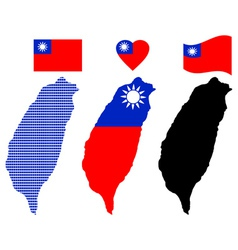 Map of Taiwan vector