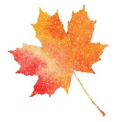 Maple leaf Autumn fall Dotwork vector