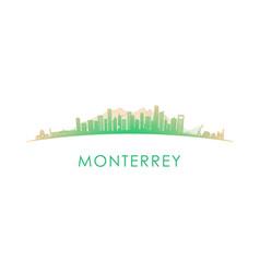 monterrey skyline silhouette design colorful vector image