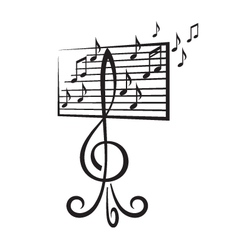music stand vector image