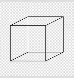 Necker cube optical vector