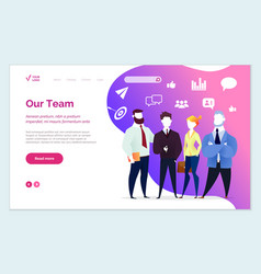our team presentation people working in company vector image
