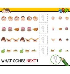 Pattern activity for children vector