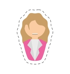 People fashionista woman icon image vector