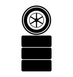 Racing wheel icon simple style vector image