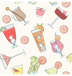 Seamless coctail pattern vector