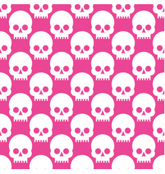 seamless pattern with skulls on a rose quartz vector image vector image