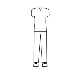 Silhouette with male sport clothes design vector