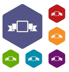 Small square banner icons set vector