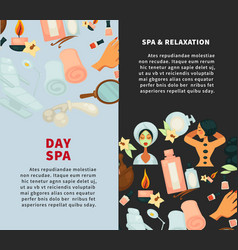 spa and relaxation day vertical promotional vector image