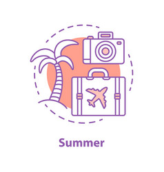 summer rest concept icon vector image