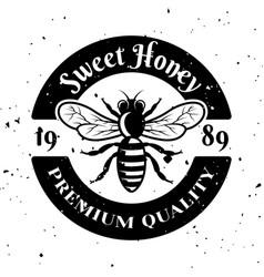 Sweet honey emblem badge label or logo vector