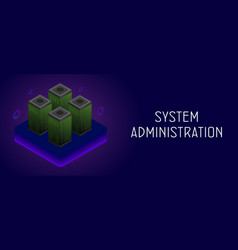 System administrators horizontal banner vector