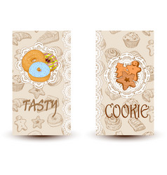 Tasty and cookiesdesign elements in sketch style vector