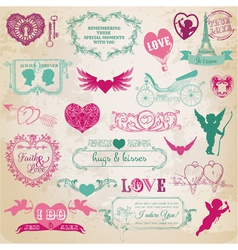 valentines day love set vector image