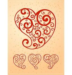 Various heart symbol vector