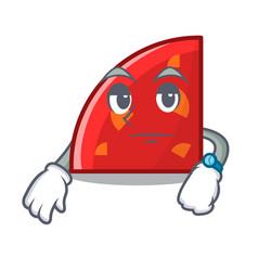 Waiting quadrant mascot cartoon style vector