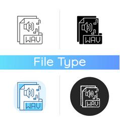 wav file icon vector image