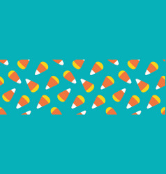 Wide horizontal candy corn seamless pattern vector