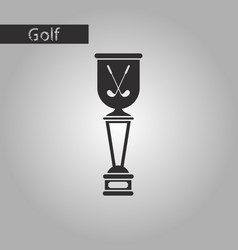 black and white style icon golf cup vector image vector image
