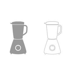 Blender grey set icon vector