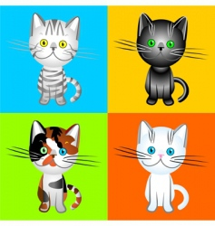 British cats of various colors vector image vector image