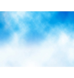 Cloud on blue vector image vector image