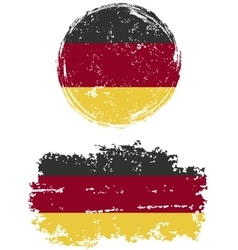 Germany round and square grunge flags vector image