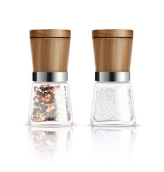 Salt and pepper mill composition vector