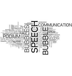 speech word cloud concept vector image vector image