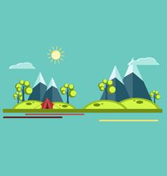 summer camping flat vector image
