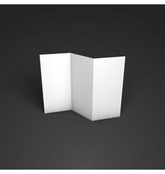 Blank trifold paper brochure mockup vector image vector image