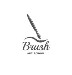 Brush emblem vector image