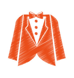 elegant masculine dress icon vector image