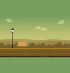 flat of garden with chair scenery vector image vector image