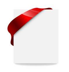 label price tag with a red ribbon vector image vector image