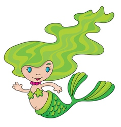 mermaid little vector image