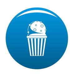 popcorn icon blue vector image vector image